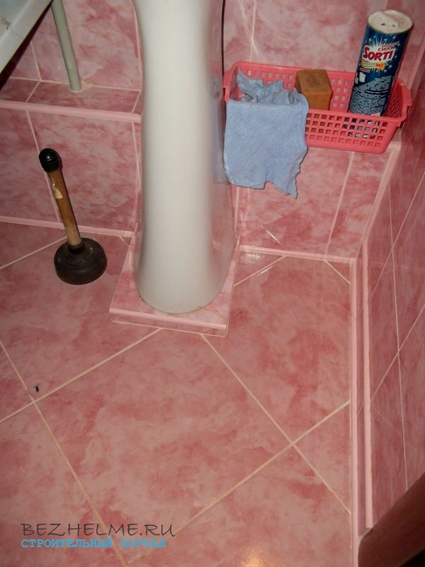 пол в туалете